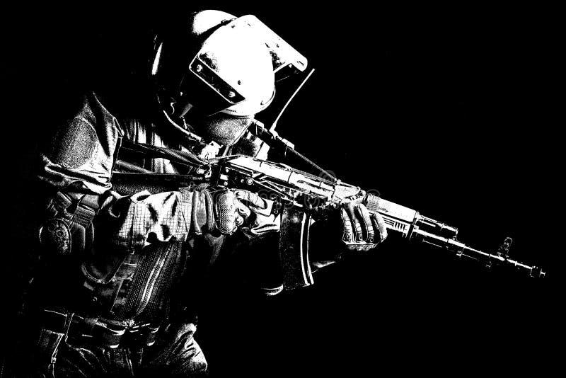 Forces spéciales russes photographie stock libre de droits