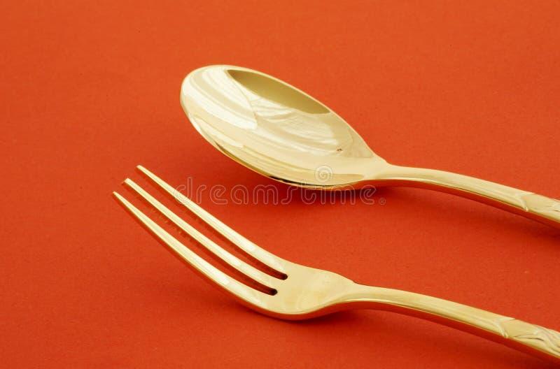 Download Forchetta e cucchiaio immagine stock. Immagine di acciaio - 7324303
