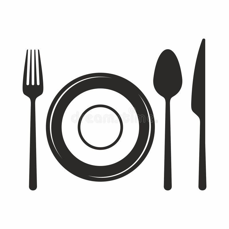 Forchetta, lama, cucchiaio e zolla Innesta l'icona royalty illustrazione gratis
