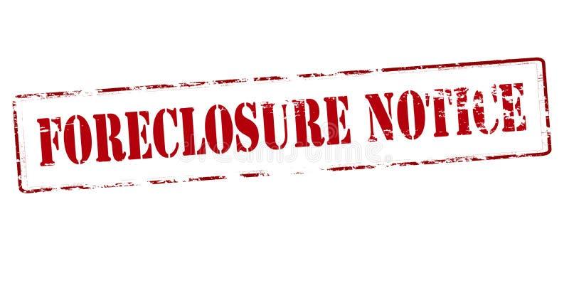 Forclosure zawiadomienie zdjęcia royalty free