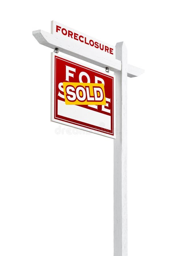 Forclusion gauche de revêtement vendue pour le signe de Real Estate de vente d'isolement image libre de droits