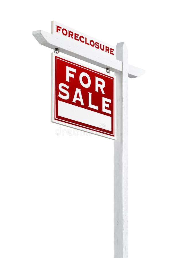 Forclusion gauche de revêtement vendue pour le signe de Real Estate de vente d'isolement photos libres de droits
