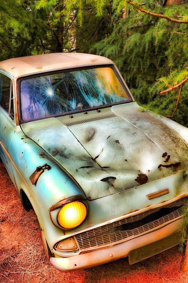 Ford Anglia azul clássico imagens de stock