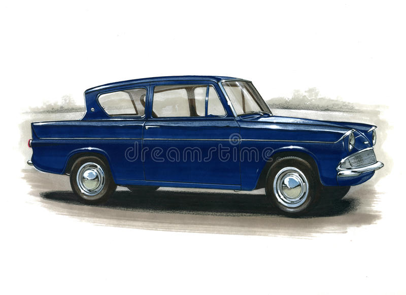 Ford Anglia 105E vector illustratie