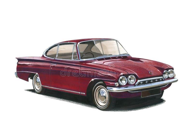 Ford Capri Classic royaltyfri illustrationer