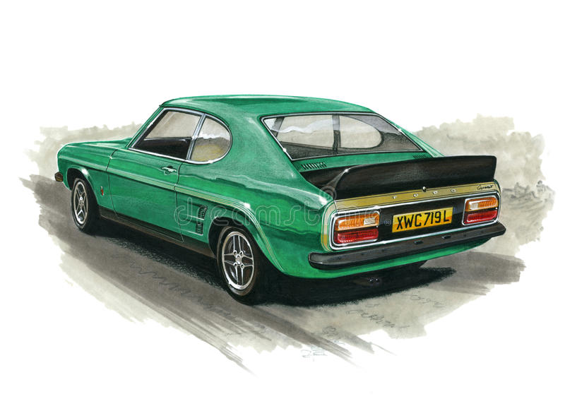 Ford Capri Mk 1 RS3100 stock illustratie