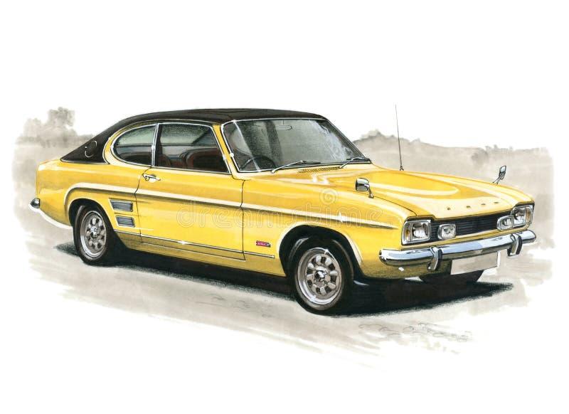 Ford Capri MkI 3000E royaltyfri illustrationer