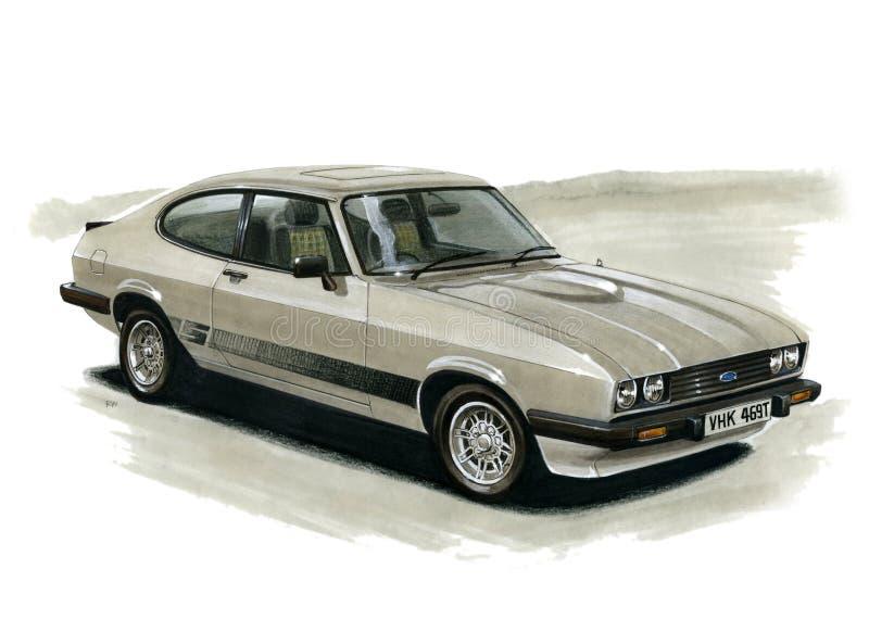 Ford Capri MkIII 2 0 S royaltyfri illustrationer