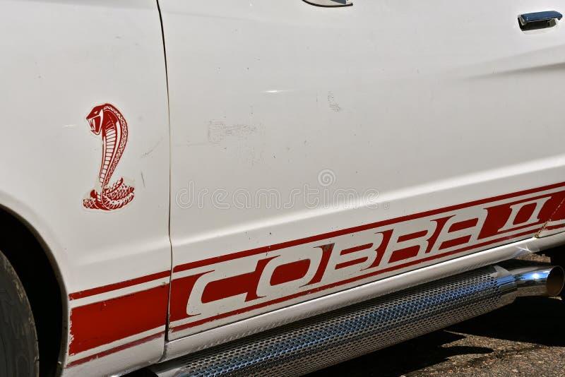 Ford Cobra Logo 1977 fotos de archivo