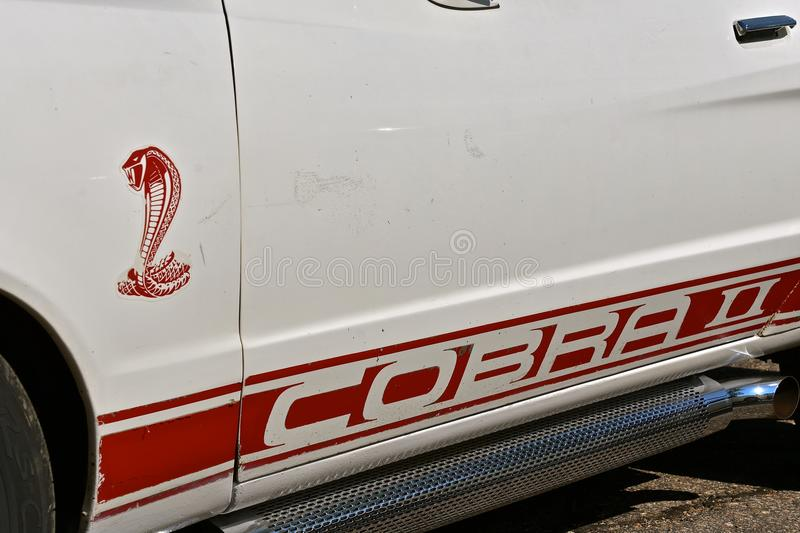 1977 Ford Cobra Logo stock photos