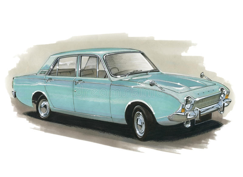 Ford Corsair stock illustratie