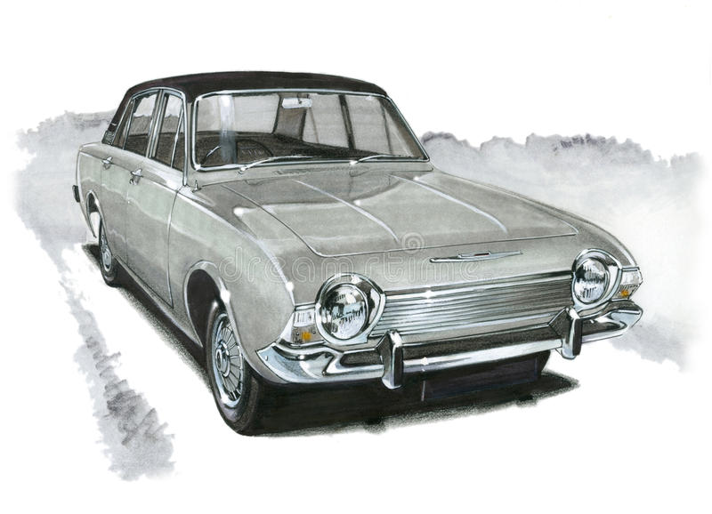 Ford Corsair 2000E stock illustratie