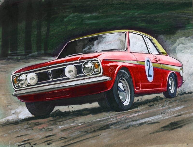 Ford Cortina MkII samlar royaltyfri illustrationer