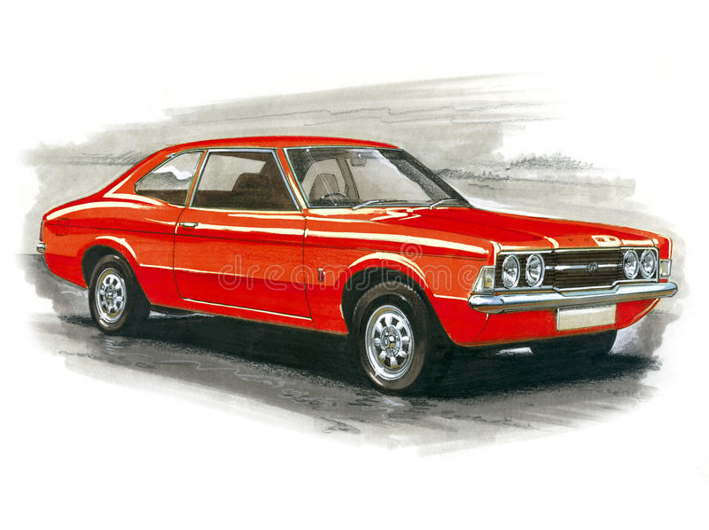 Ford Cortina MkIII GT royalty-vrije illustratie