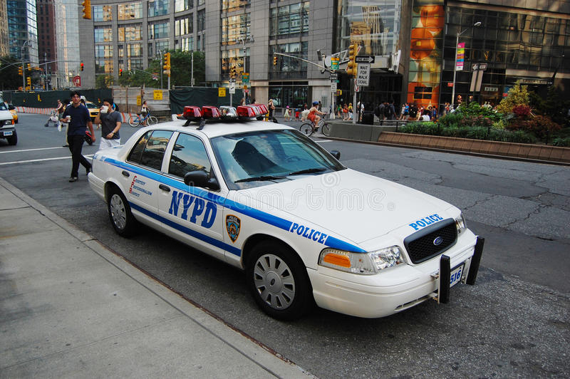 Ford Crown Victoria Police Car in NYC royalty free stock images