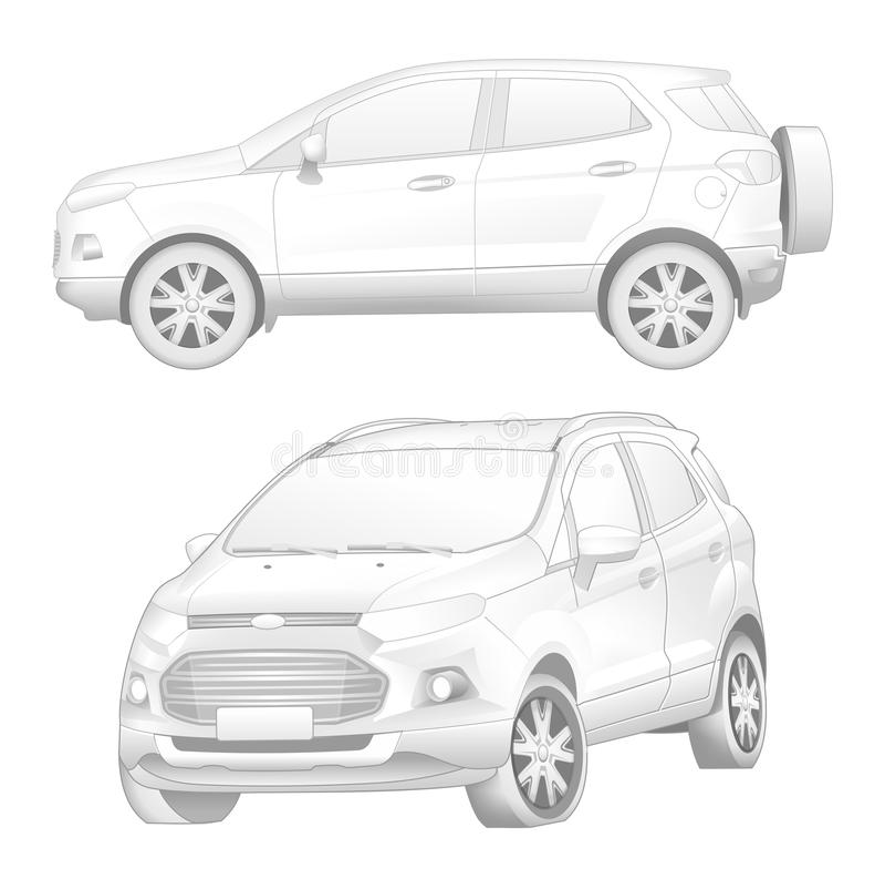 Ford Ecosport lizenzfreie abbildung