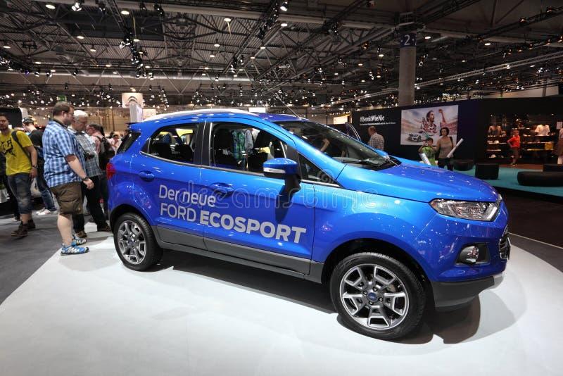 Ford Ecosport på den auto mobila internationalen arkivbild