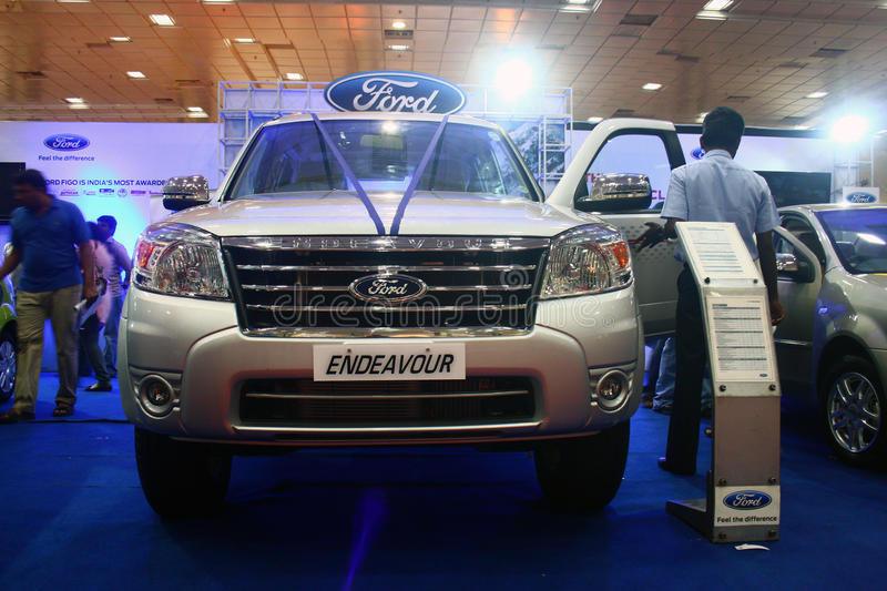 Download Ford Endeavour SUV At Auto World Expo 2011 Editorial Image - Image: 20084935