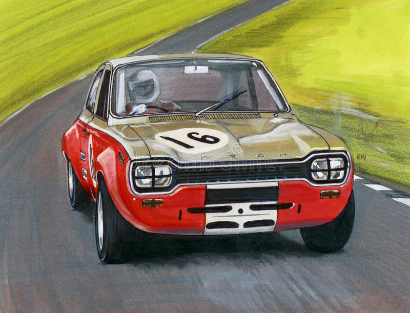 Ford Escort Mk 1 stock illustratie