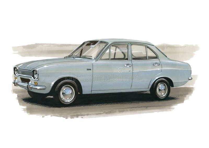 Ford Escort Mk 1 1970 London till Mexico samlar royaltyfri illustrationer
