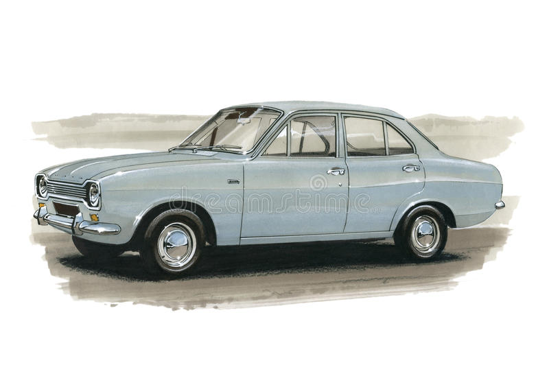 Ford Escort Mk 1 1970 London zu Mexiko-Sammlung stockbild