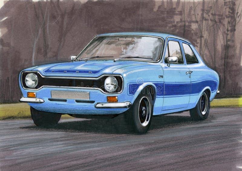 Ford Escort Mk 1 RS2000 royaltyfri illustrationer