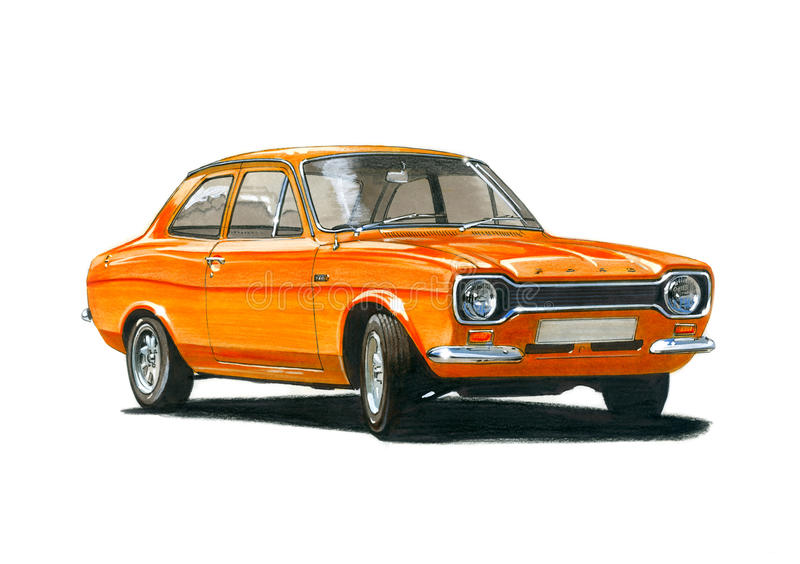 Ford Escort Mk 1 RS1600 BDA vector illustratie