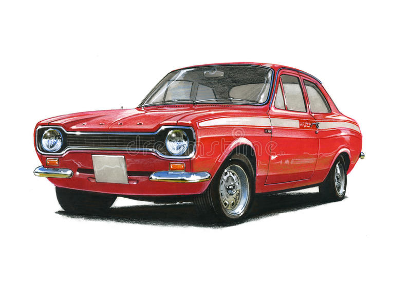 Ford Escort MkI Mexico royalty-vrije illustratie