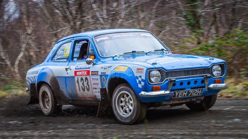 Ford Escort MKI rally car stock photo