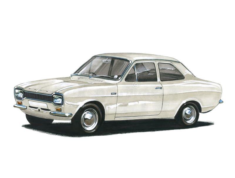 Ford Escort MkI tvilling- kam royaltyfri illustrationer