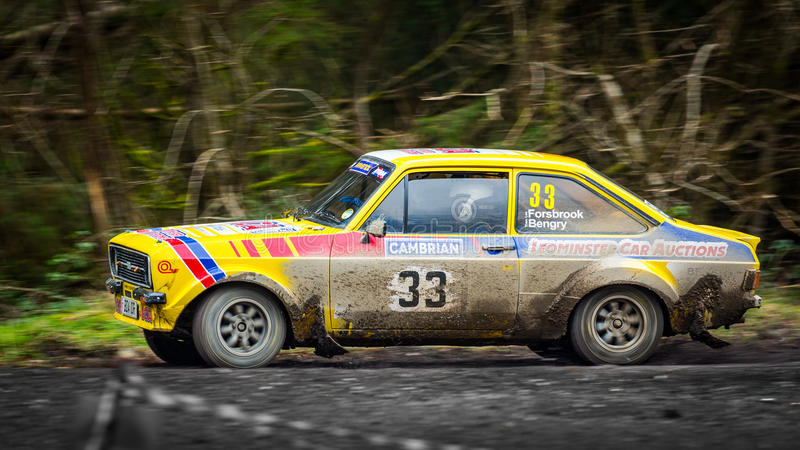 Ford Escort Mkii Rally Car Editorial Stock Photo Image
