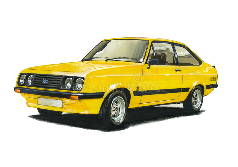 Ford Escort MkII RS2000 vector illustratie