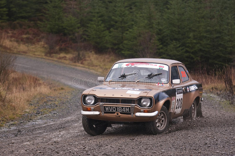 Ford Escort rally car royalty free stock photography