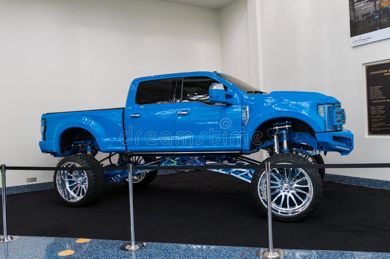 Ford F-250 Platinum on display during Los Angeles Auto Show stock photos