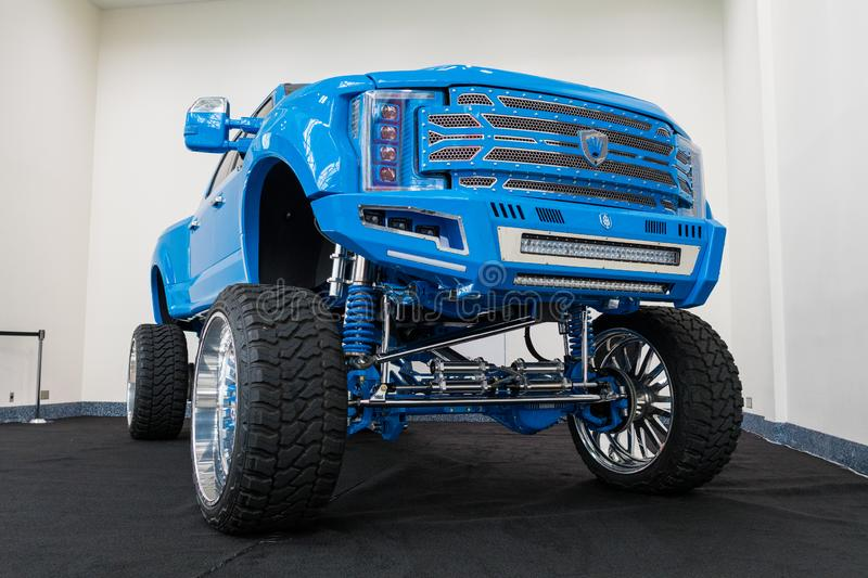 Ford F-250 Platinum on display during Los Angeles Auto Show stock images