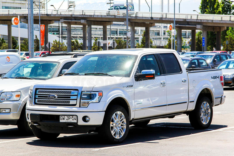 Ford F-150. SANTIAGO, CHILE - NOVEMBER 24, 2015: Pickup truck Ford F-150 in the city street royalty free stock photography