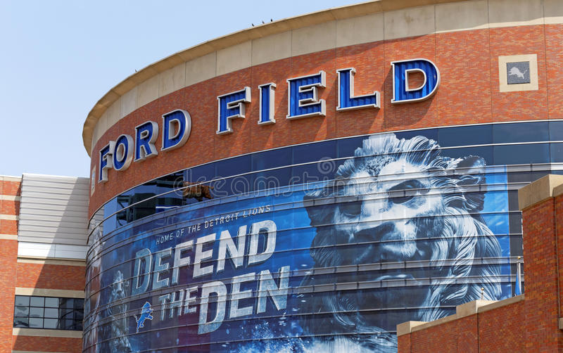 Ford Field royaltyfri foto