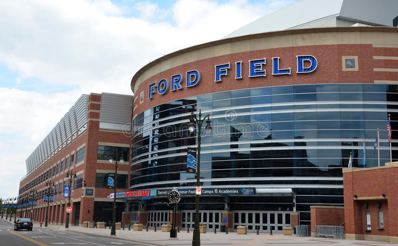 Ford Field em Detroit, MI imagem de stock royalty free