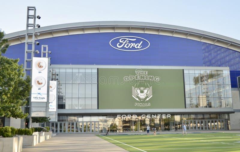 Ford Field en Dallas Star Practice Facility, Frisco, Tejas fotos de archivo libres de regalías