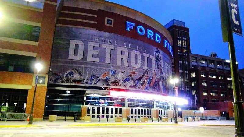 Ford Field Home van de Detroit Lionspoort C royalty-vrije stock afbeeldingen