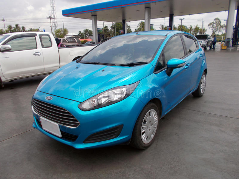 Ford Fiesta Blue royalty free stock photography