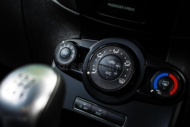 Ford fiesta nagrzewacza kontrola - DoF zdjęcie royalty free