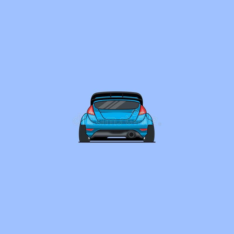 Ford Fiesta Rs royaltyfri illustrationer