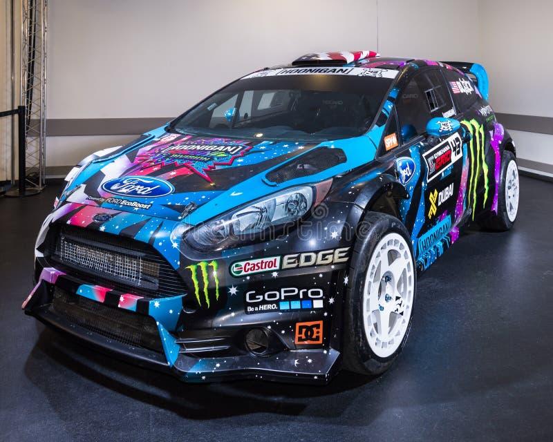 2013 ford fiesta st rx43 - ken block rallycross editorial stock