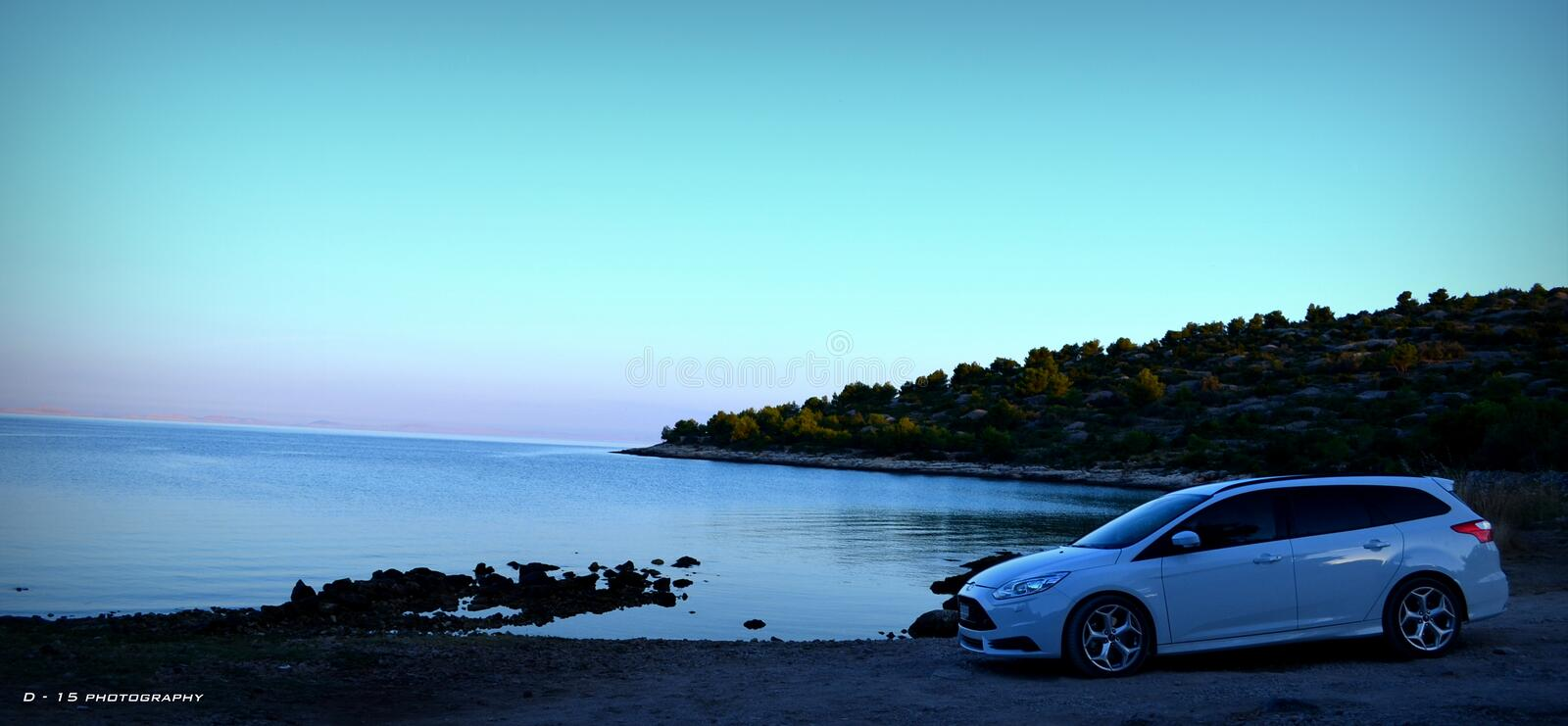 ford focus estate ST mk3 dawn stock photography