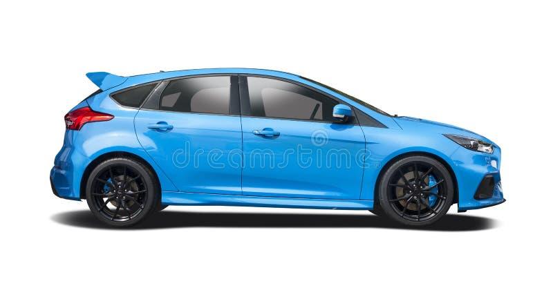 Ford Focus RS op wit wordt geïsoleerd dat royalty-vrije stock afbeeldingen