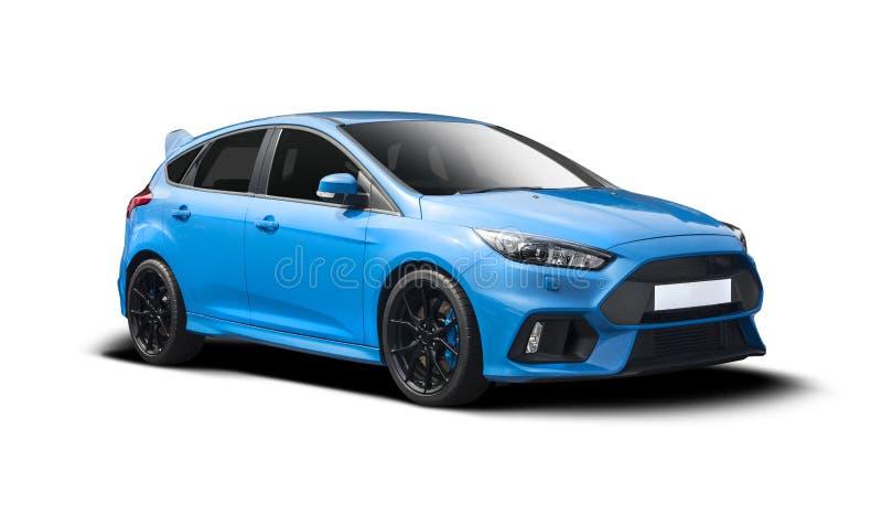 Ford Focus RS op wit wordt geïsoleerd dat stock foto