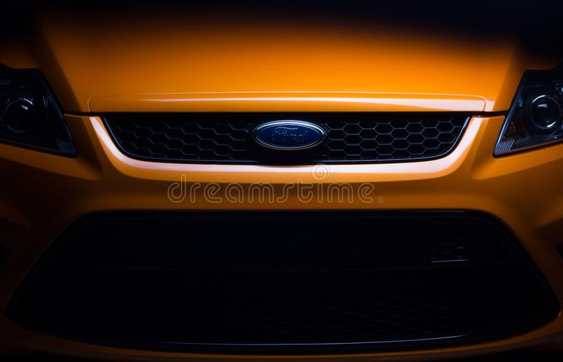 Ford Focus St Orange Car photos stock