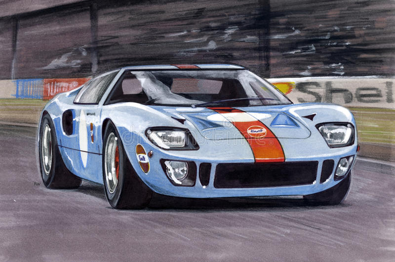 Ford Ford GT40 1968 stock illustratie
