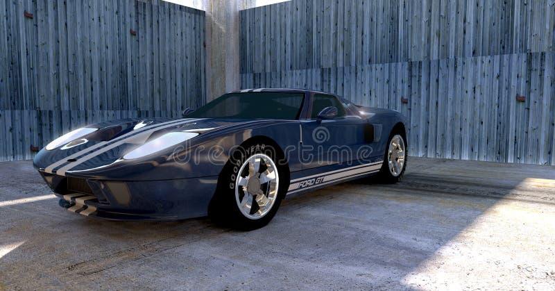 Αυτοκίνητο της Ford GT στοκ εικόνα με δικαίωμα ελεύθερης χρήσης